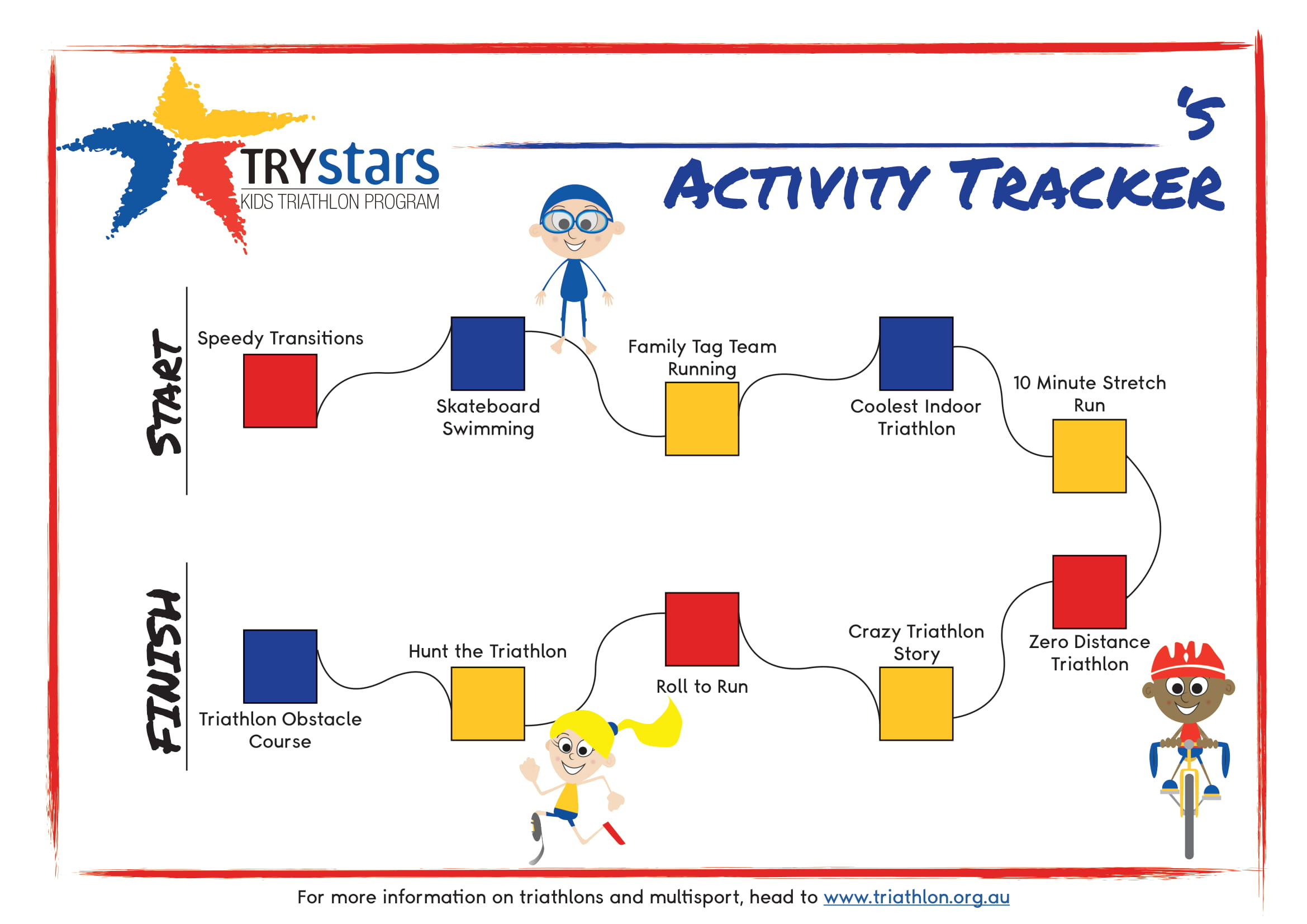 Home Triathlon Children Activities Tracker
