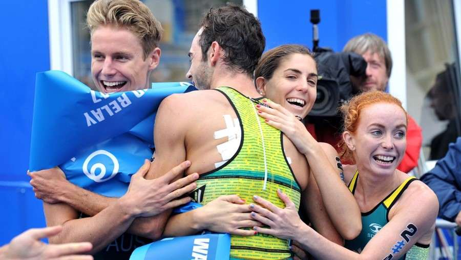 ITU Teams Relay World Championship in Hamburg - Gold Medal