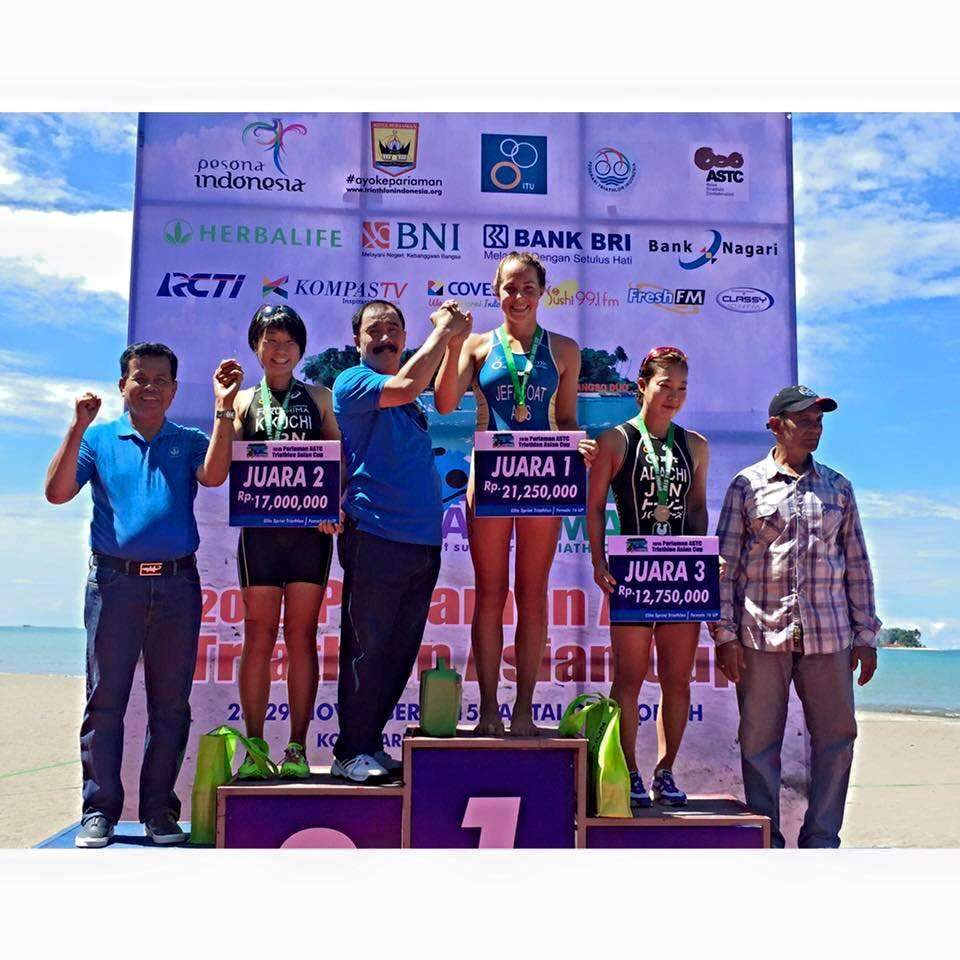Win for Emma Jeffcoat at the Pariaman ASTC  Sprint Asian Cup 2015