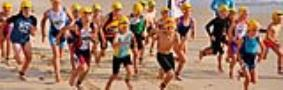 Off and racing in the Kids Aquathon-SCODY Triathlon NSW Club Champs