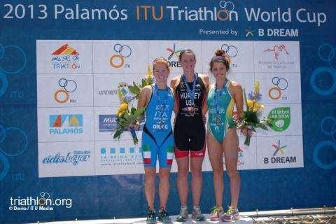 PALAMOS ITU World Cup 2013 PODIUM WOMEN