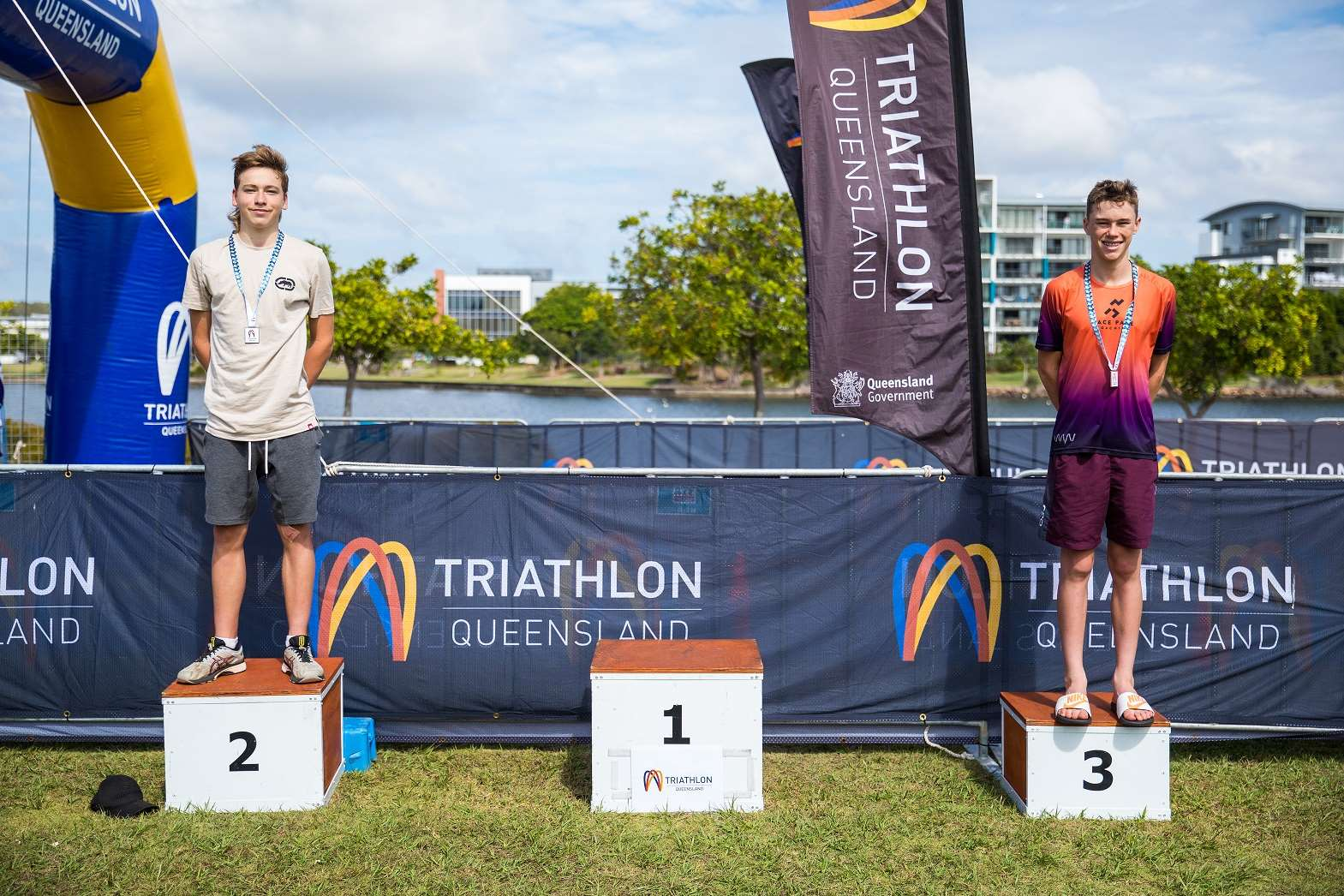 Intermediate Men Triathlon Podium