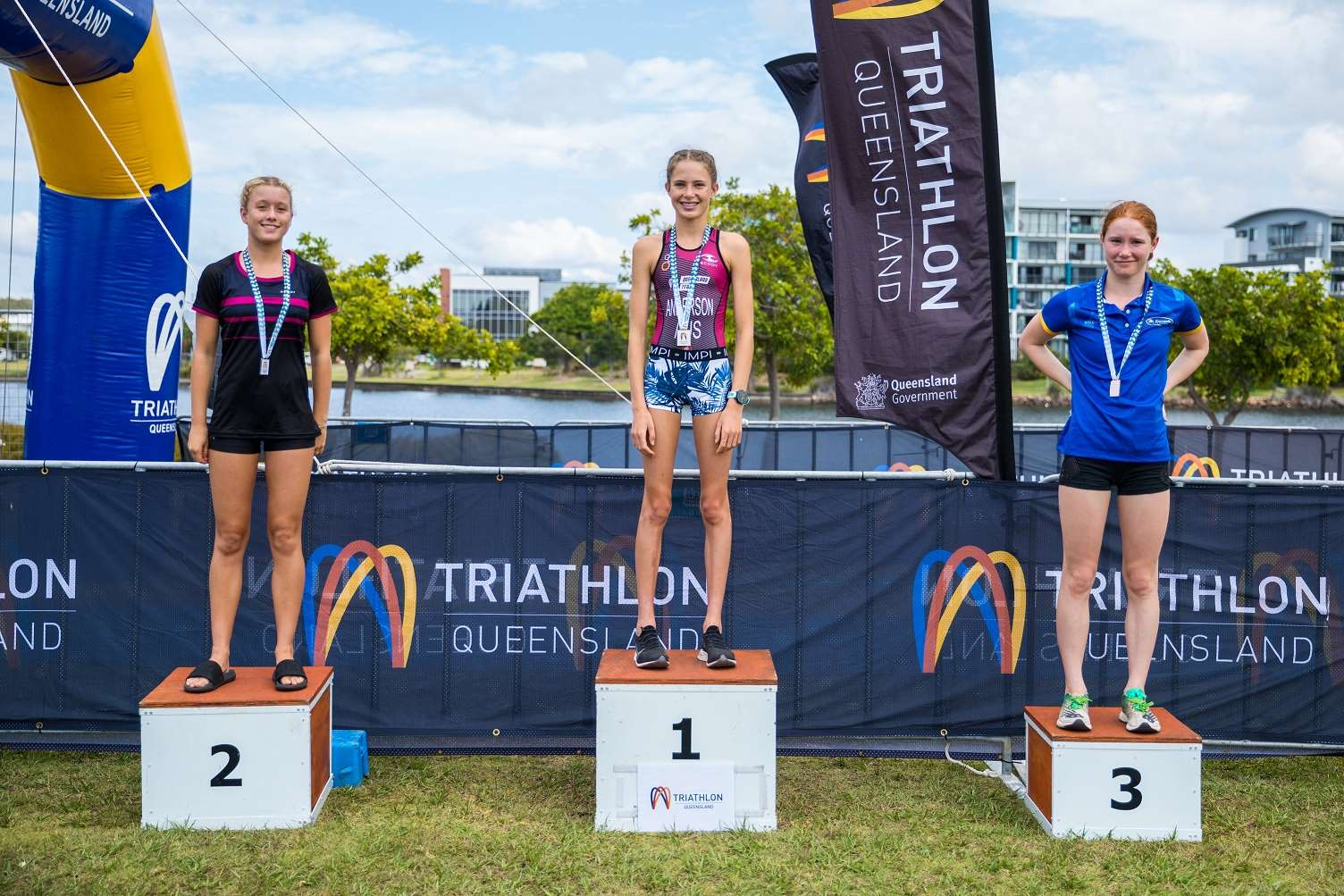Intermediate Women Triathlon Podium