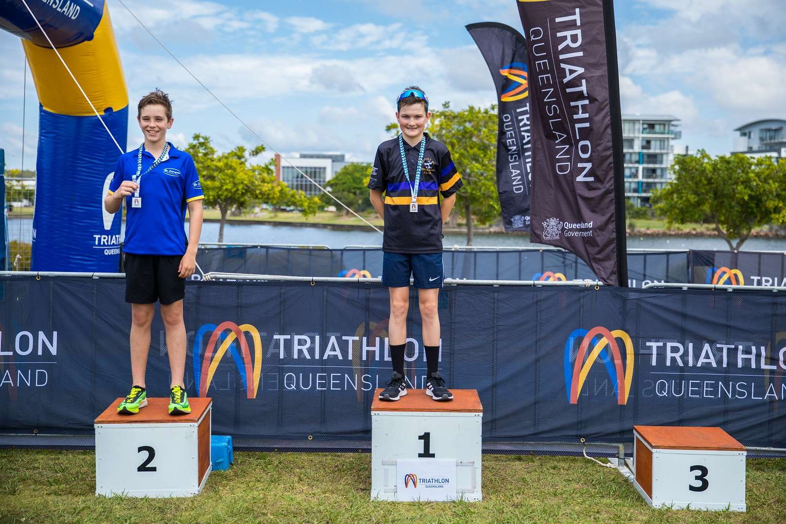 Junior Men Triathlon Podium