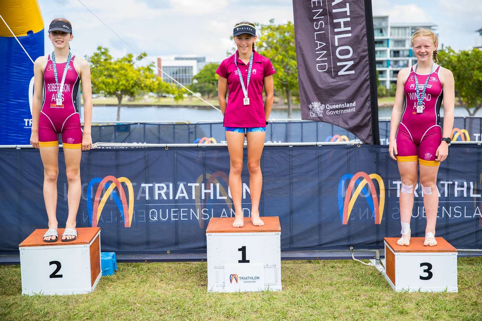 Junior Women Triathlon Podium