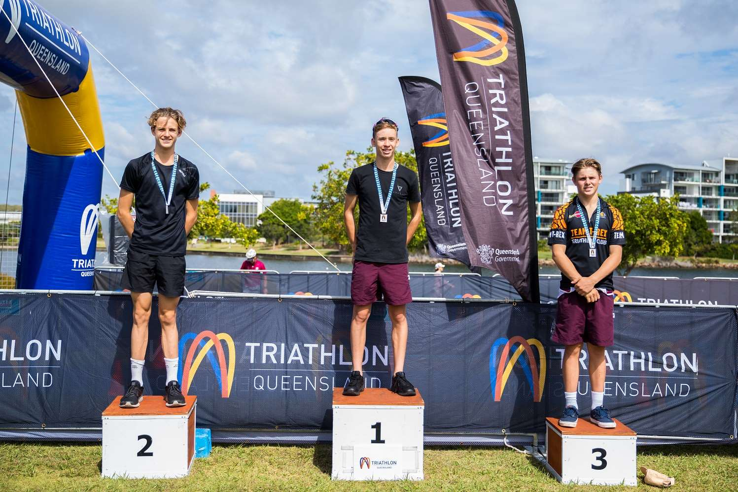 Senior Men Triathlon Podium
