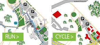 Full Distance & Sprint run cycle course map button