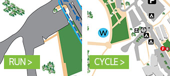 Mini Kids Run Cycle Course Map button