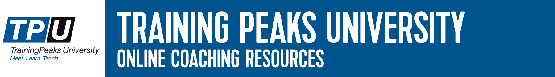 Training Peaks University Resources