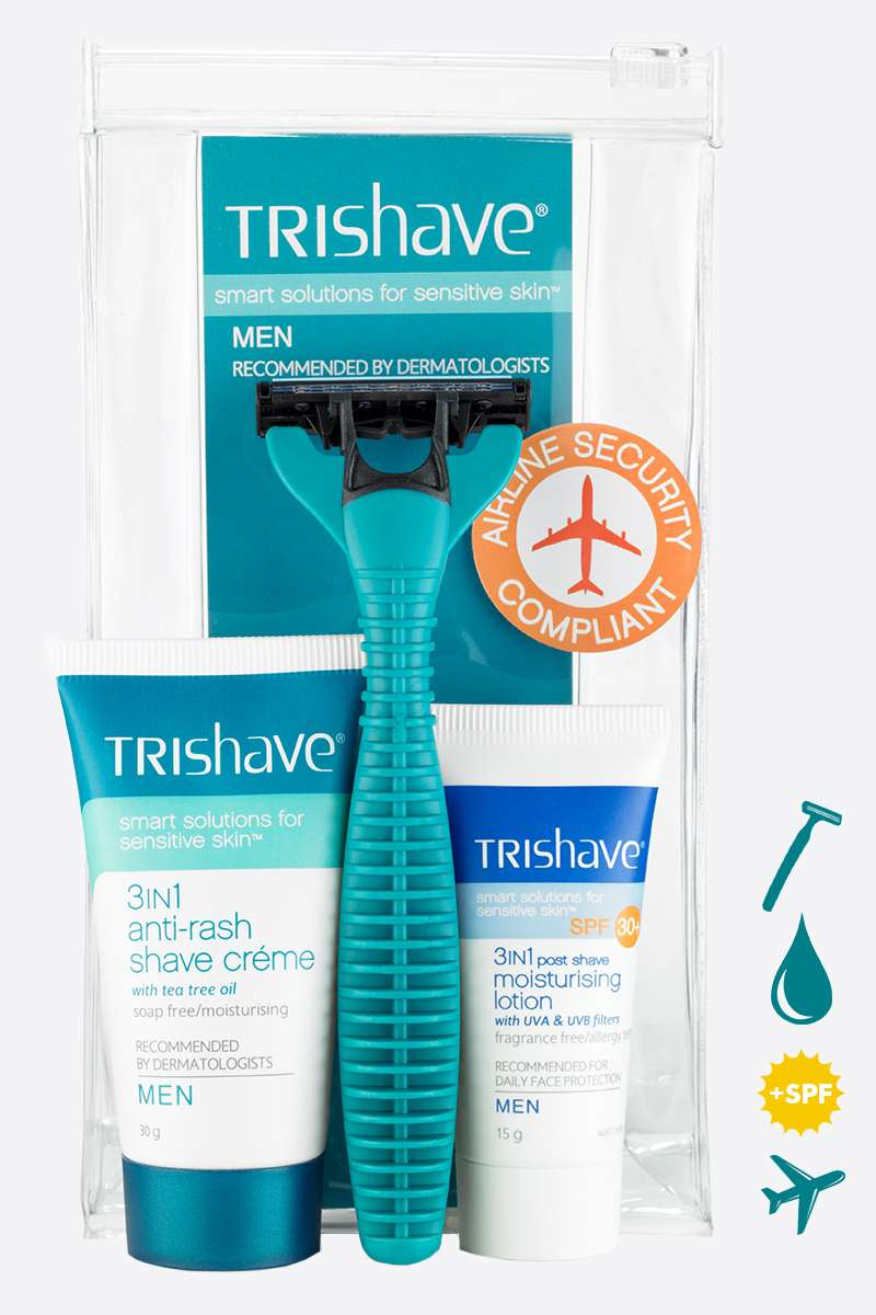 TriShave travel pack