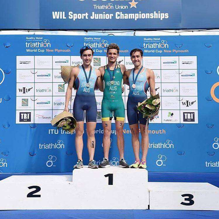 Lorcan Redmond and Schofield brothers on podium in New Plymouth 2018