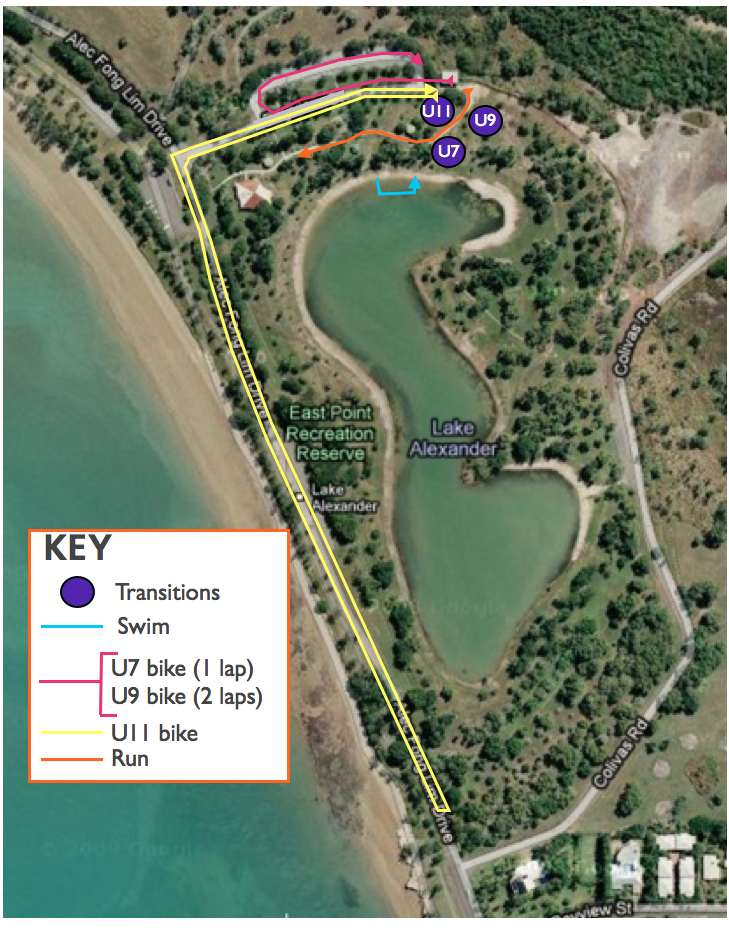 kids tri course map