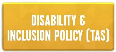 Disability & Inclusion policy TAS